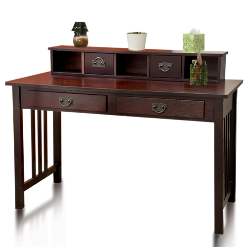 home office writing desk. best choice products writing desk mission cherry home office computer solid wood construction w