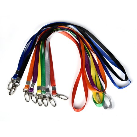 - 5/10/30pcs Lanyard Neck Strap with Strong Metal Clip for ID Students Office Card Holder Keys