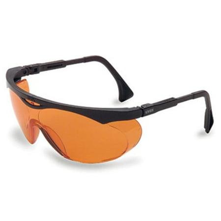 2 Pair Uvex S1933X Skyper Safety Eyewear, Black Frame, SCT-Orange UV (Medical Eyewear)