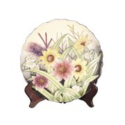 dale tiffany pa500210 english garden decorative plate, 10-3/4-inch by 10-3/4-inch