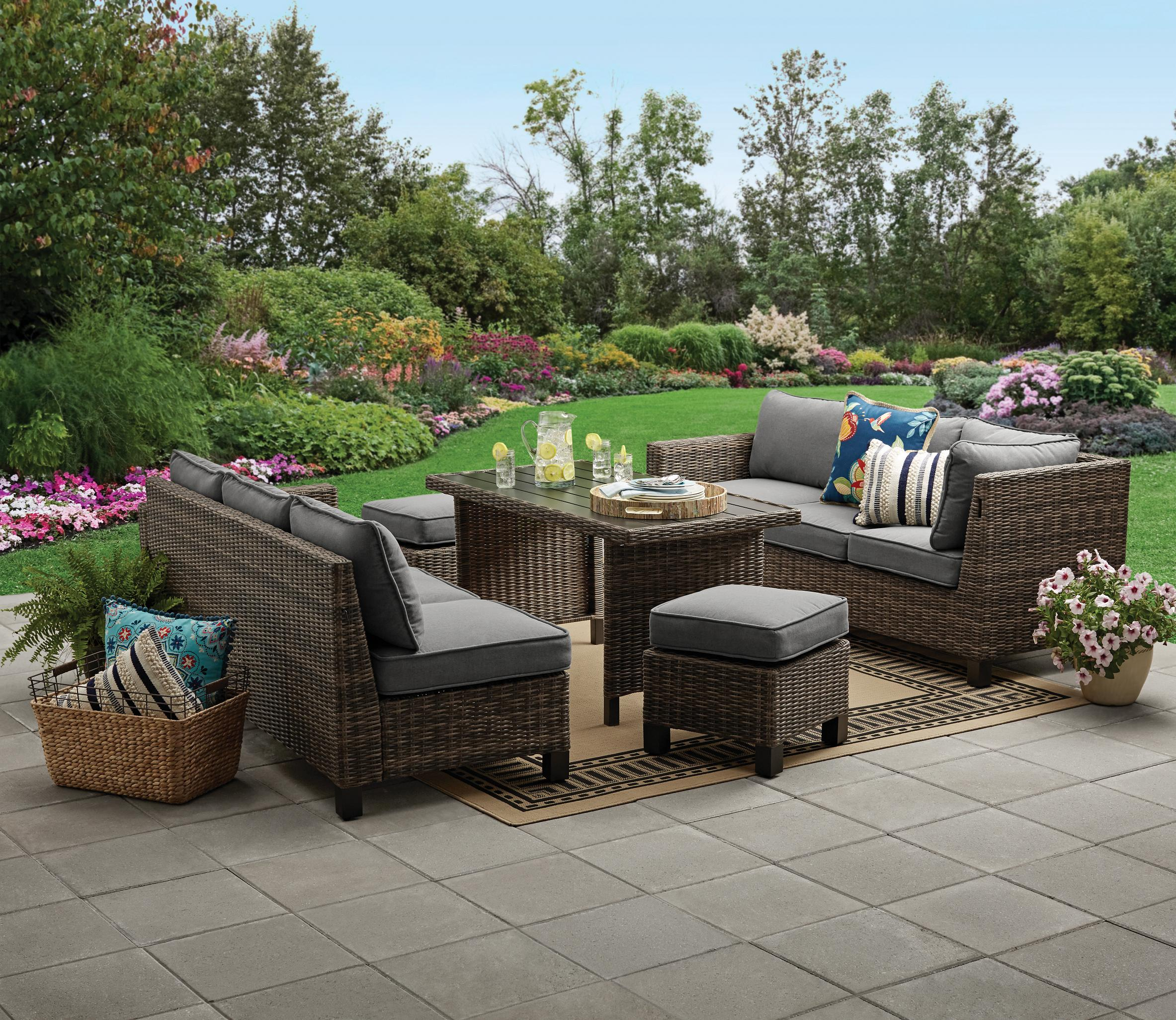 Patio Wicker Sectional