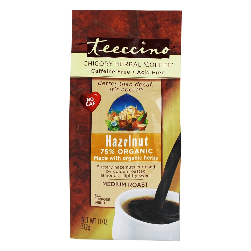 Teeccino B04224 Teeccino Hazelnut Herbal Coffee - 6x11 Oz