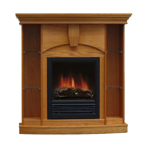Charlton Home Belford Corner Curio Electric Fireplace