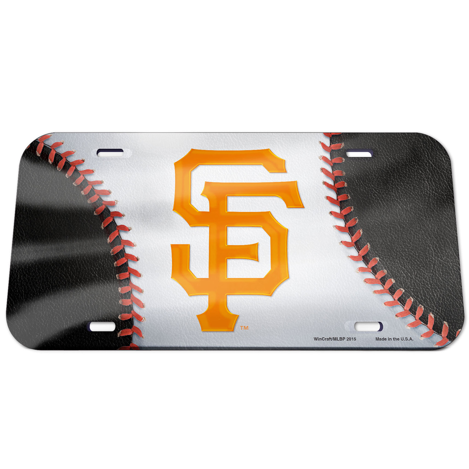 San Francisco Giants WinCraft Ball Crystal Mirror License Plate - No Size