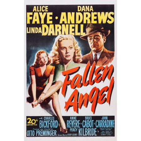 Fallen Angel Linda Darnell Alice Faye Dana Andrews 1945 Tm And Copyright  20Th Century Fox Film Corp All Rights Reserved Courtesy Everett Collection Movie Poster Masterprint