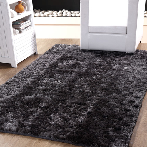 Affinity Home Collection Hand-Woven Grey Indoor Area Rug