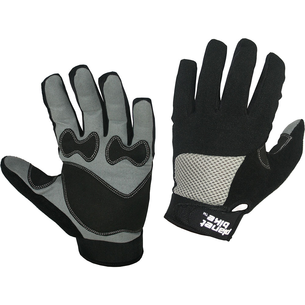 Planet Bike 9003-Large Orion Full Finger Gel Gloves Black Large