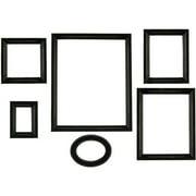 elements black distressed empty picture frames set of 6 - Distressed Frames