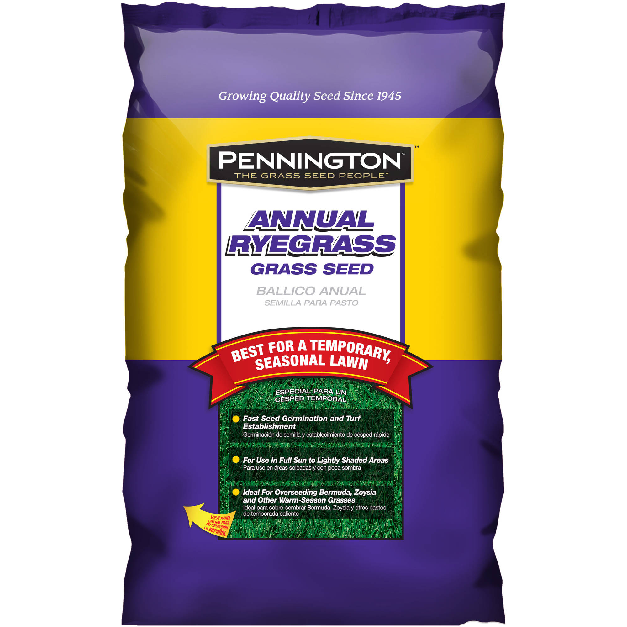 Pennington Grass Seed Annual Ryegrass, 20 lbs