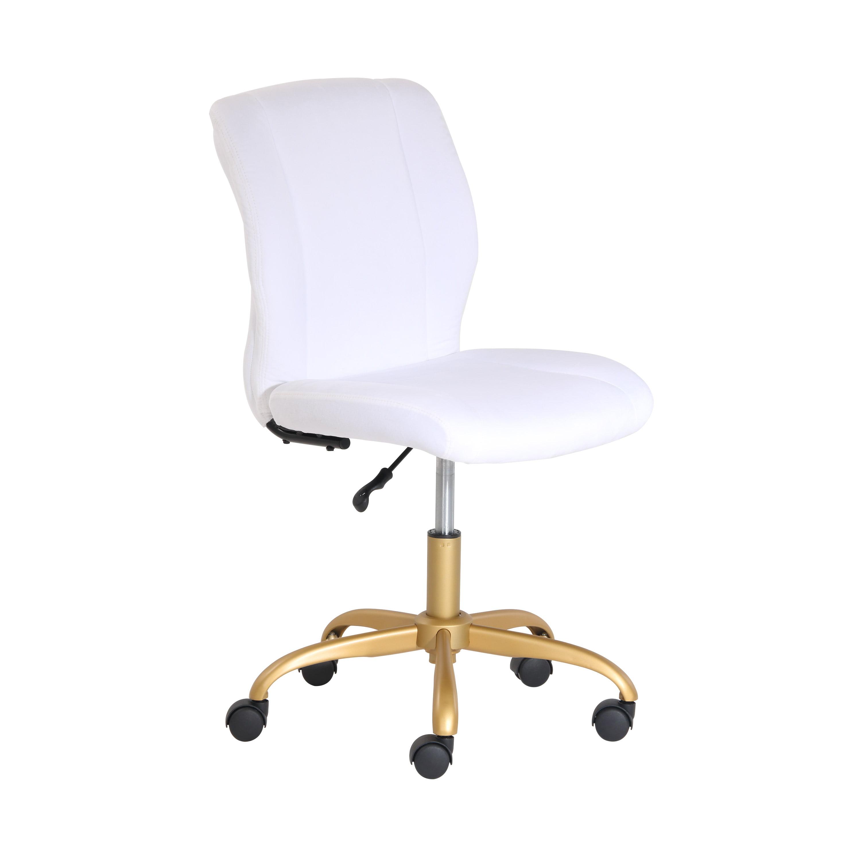 Mainstays Plush Velvet Office Chair, Pearl Blush - Walmart.com