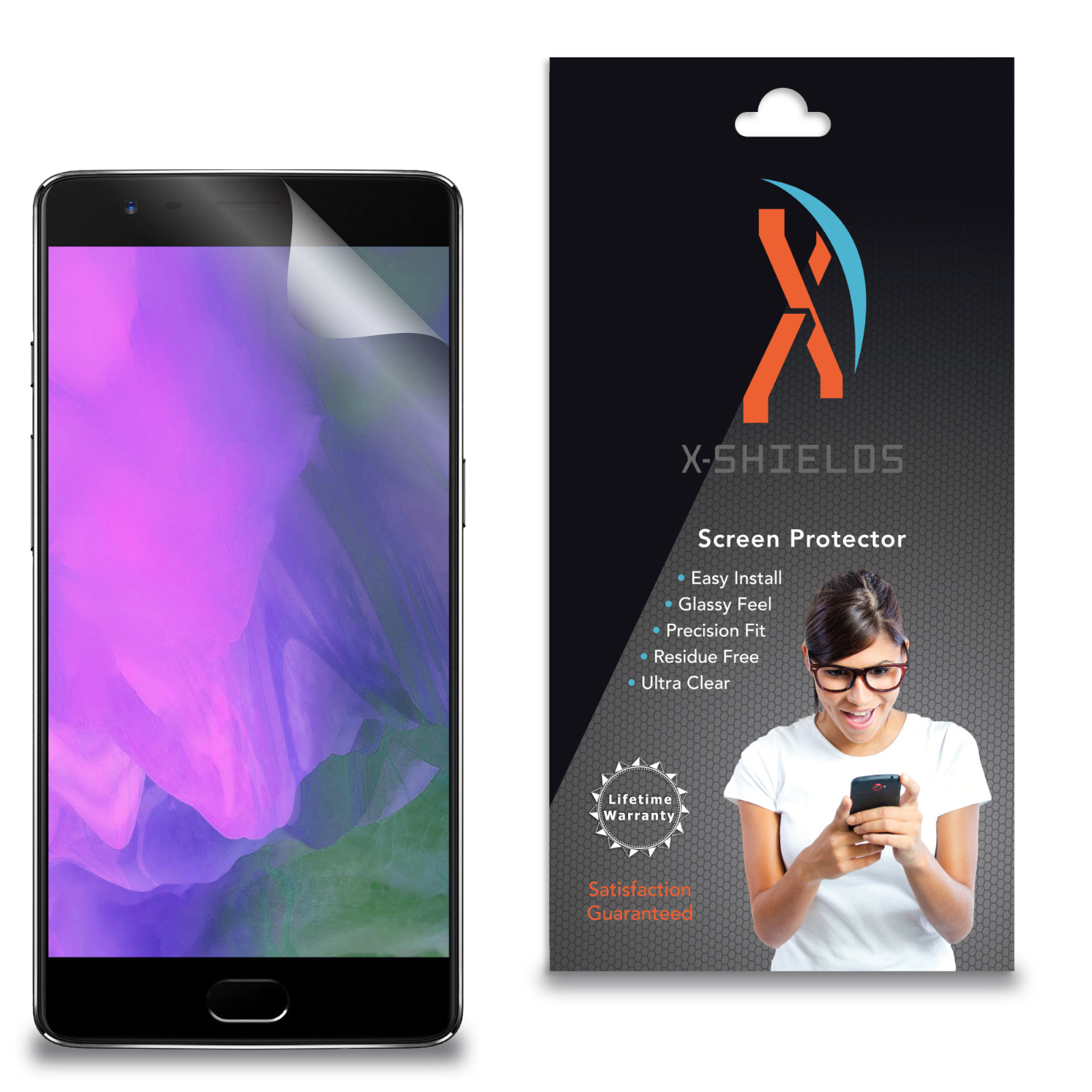 XShields High Definition (HD+) Screen Protectors for OnePlus 5 (Maximum Clarity) Super Easy Installation [3-Pack] Lifetime Warranty