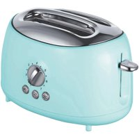 Brentwood TS-270BL Cool Touch 2-Slice Extra Wide Slot Retro Toaster, Blue