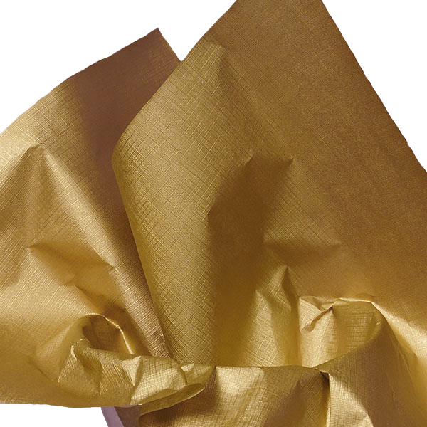 """20 X 30 Emboss Gold Linen Reflections Tissue Paper 