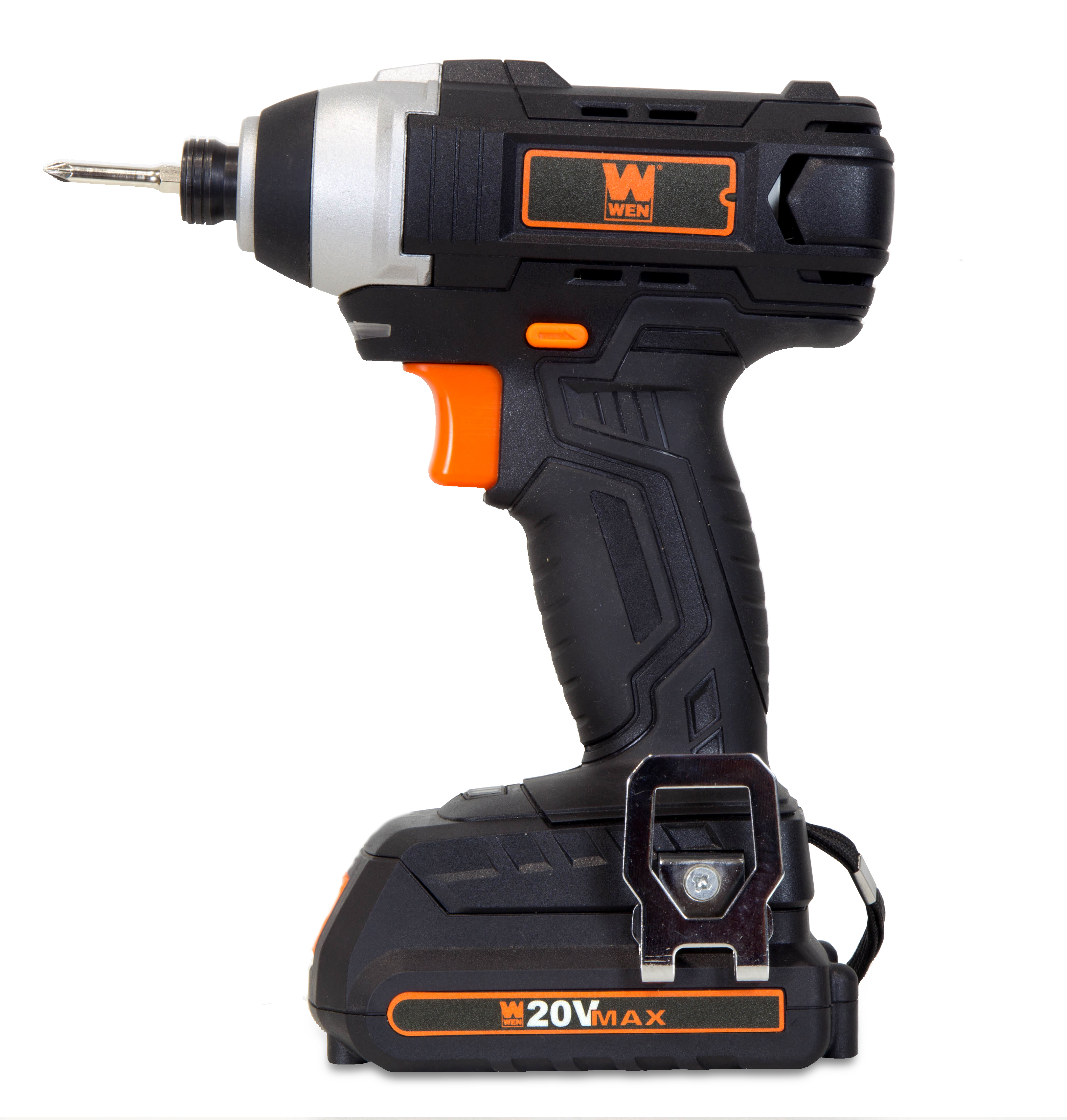 WEN 20-Volt MAX Lithium-Ion Cordless 1/4-Inch Impact Driver w/ Battery, Bits, Charger and Carrying Bag