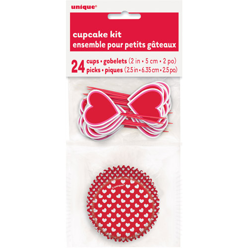 Heart Valentine Cupcake Kit for 24