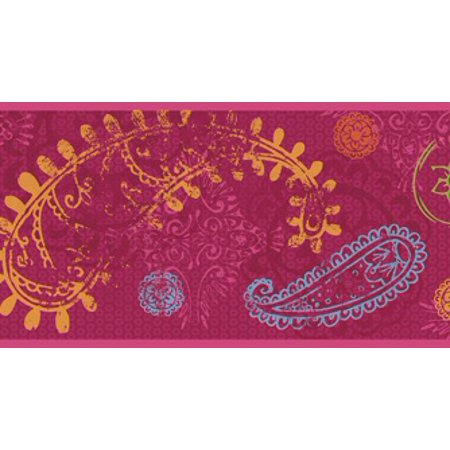 879554 Disney Paisley Wallpaper Border (Magenta Border)