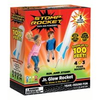 Stomp Rocket Jr. Glow Rocket and Rocket Refill Pack, 7 Rockets - Outdoor Rocket Toy Gift for Boys and Girls- Ages 3 Years and Up
