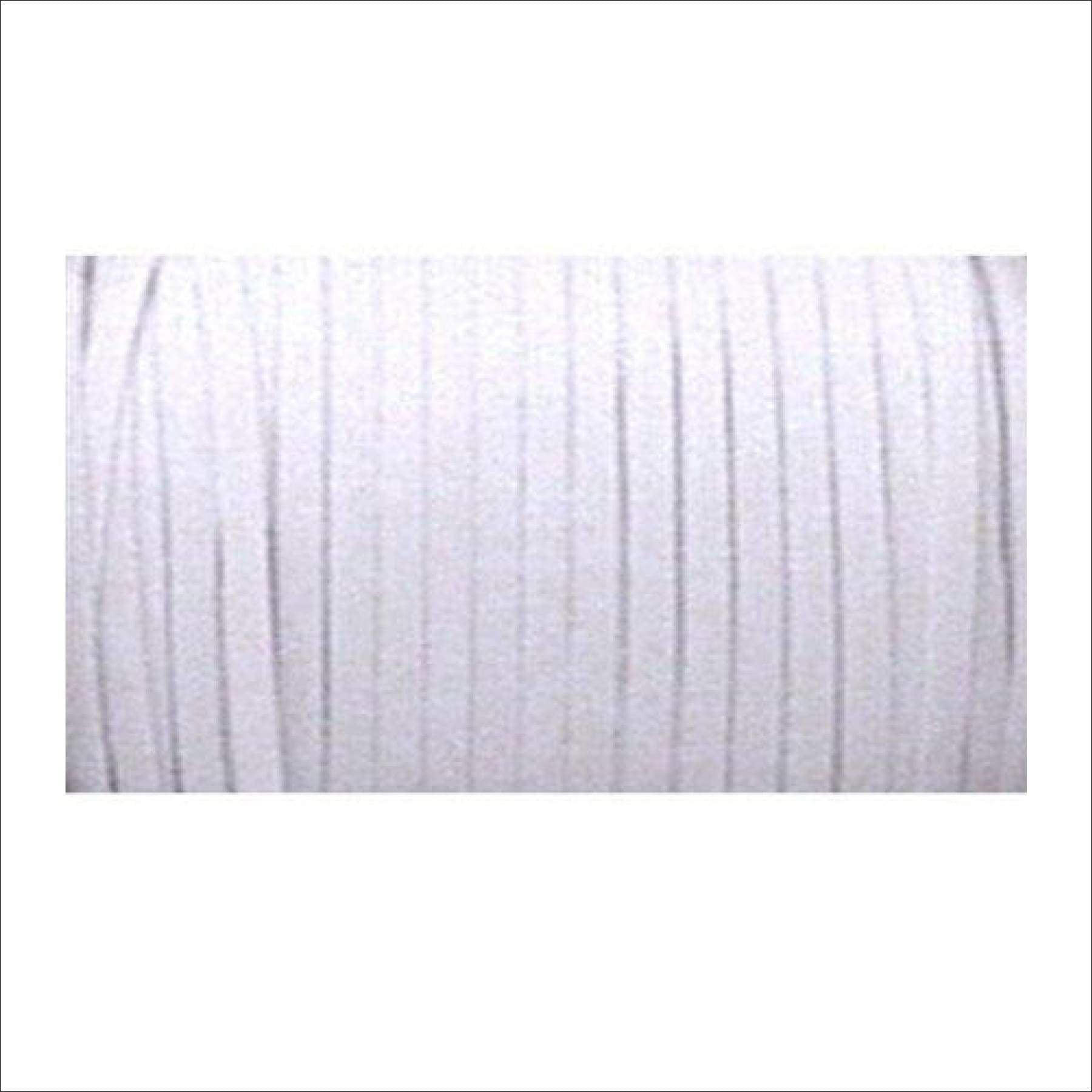 Braided Elastic 1//4/'/' Wide 5 Yards White