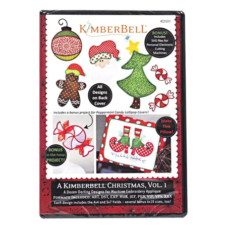 Christmas Vol 1 Machine Embroidery Cd Kd501 Patterns By Kimberbell Ship From Us