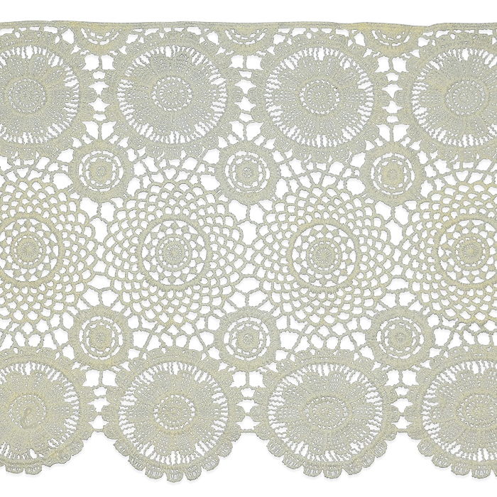 """Expo Int'l 2 yards of Carla 12"""" Classic Medallion and Open Lattice Lace Trim"""