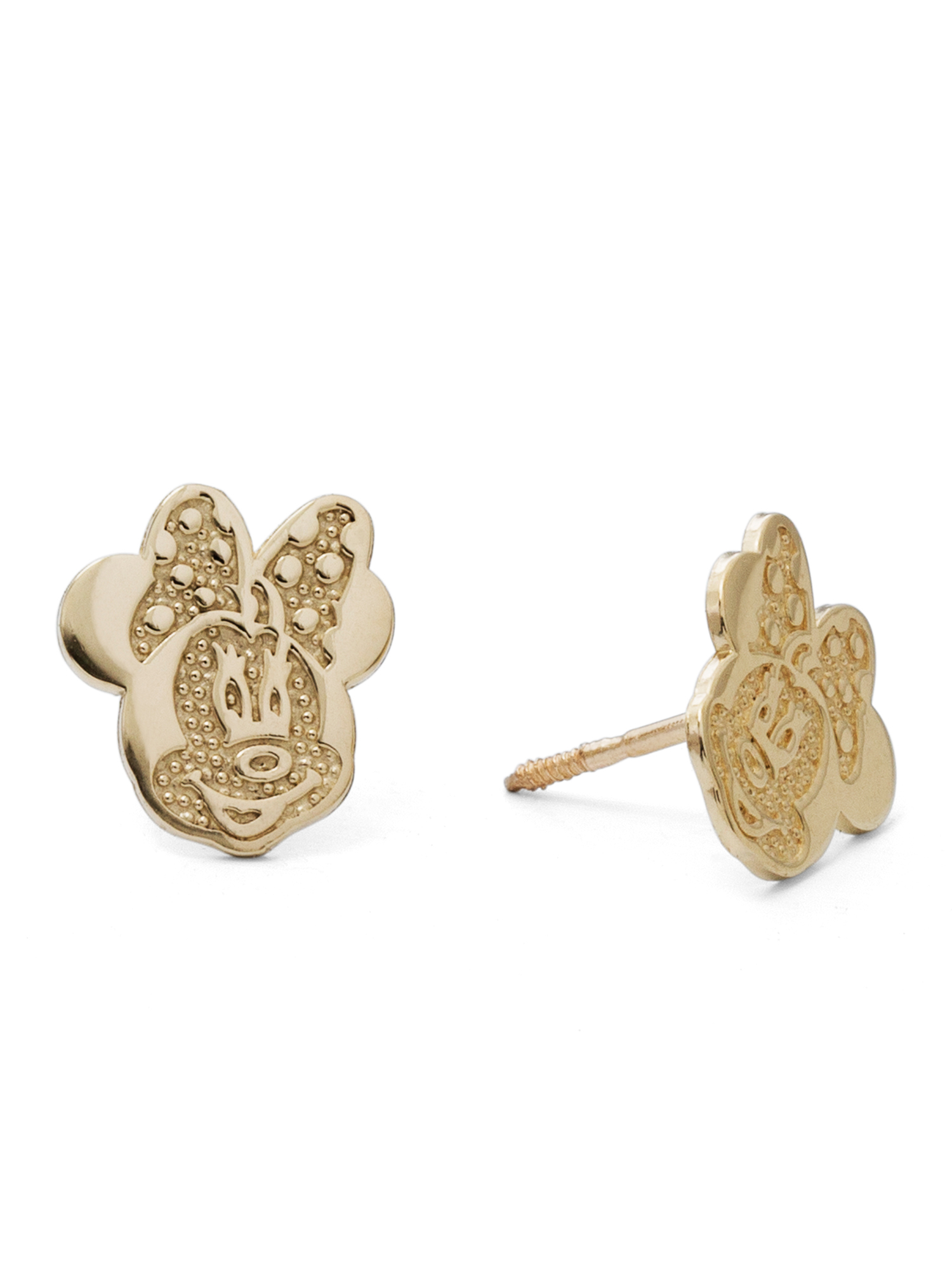 Disney 10kt Yellow Gold Minnie Mouse Stud Earrings