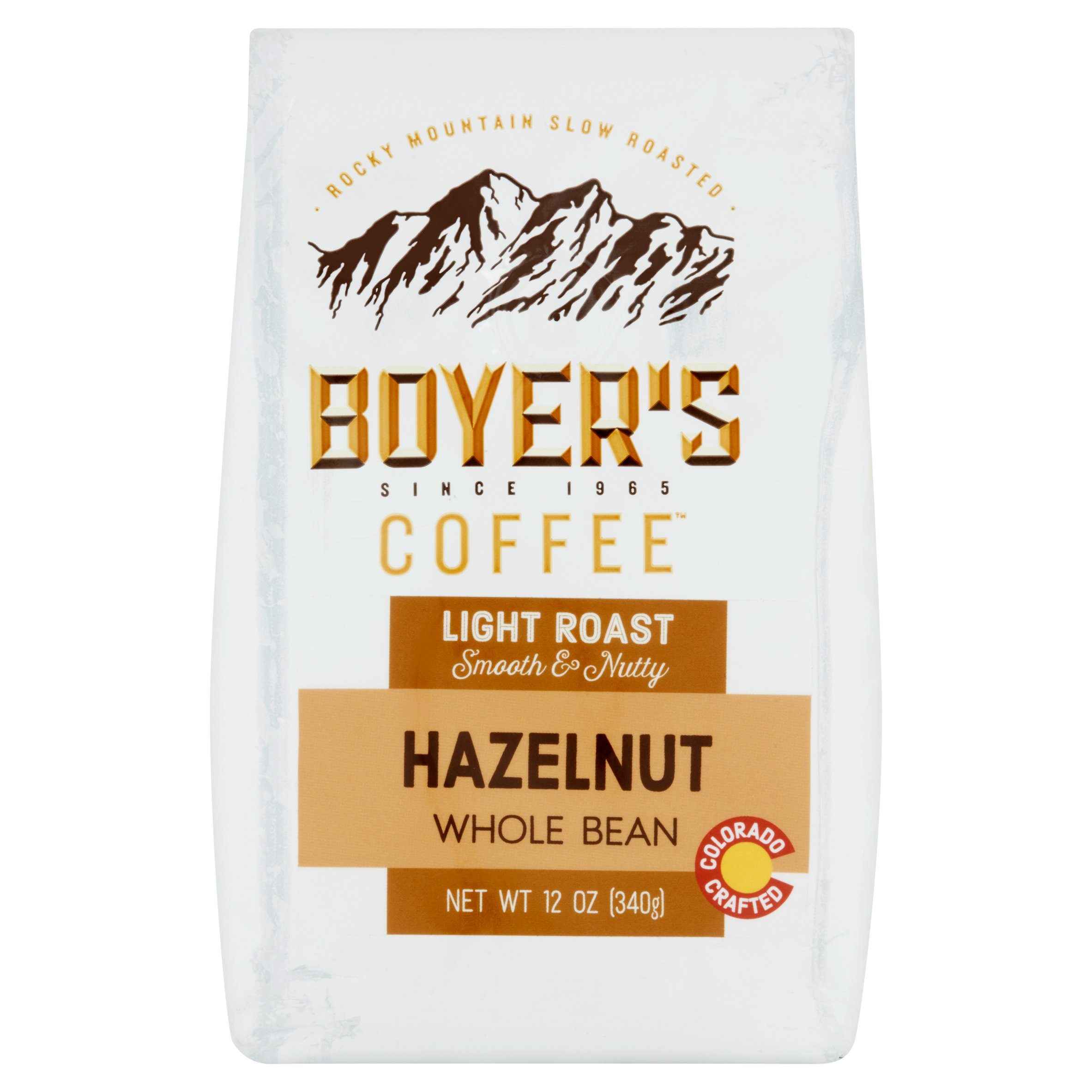 Boyer's Coffee Hazelnut Flavored Coffee Whole Bean, 12oz
