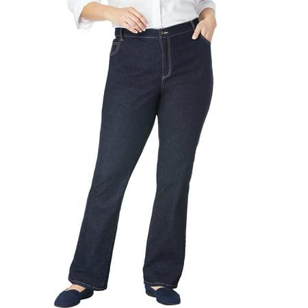 Woman Within Plus Size Petite Bootcut Stretch Jean