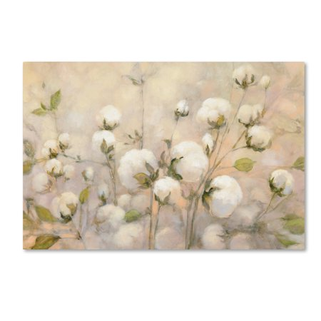 Trademark Fine Art 'Cotton Field' Canvas Art by Julia -