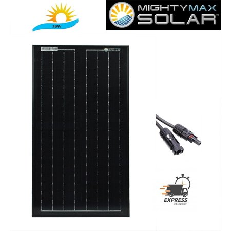 30 Watts Solar Panel 12V Mono Off Grid Battery Charger for