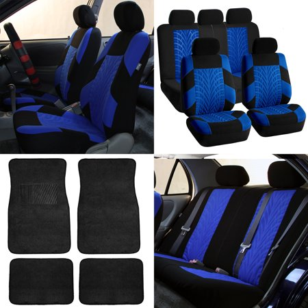 FH Travel Master Car Seat Covers For Auto Complete Set With Black Premium