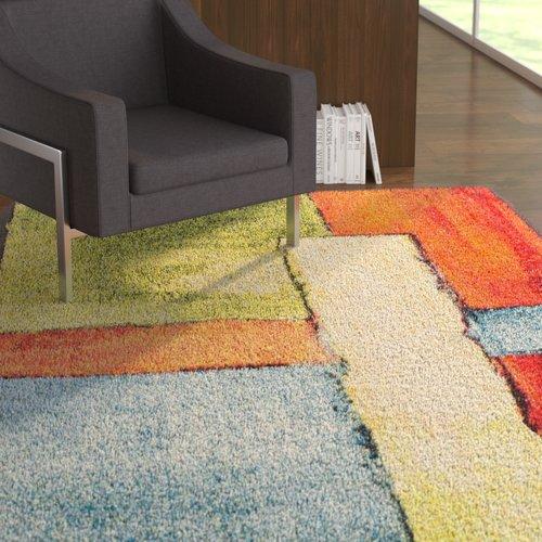 Ebern Designs Wagner Soft Yellow/Orange Area Rug