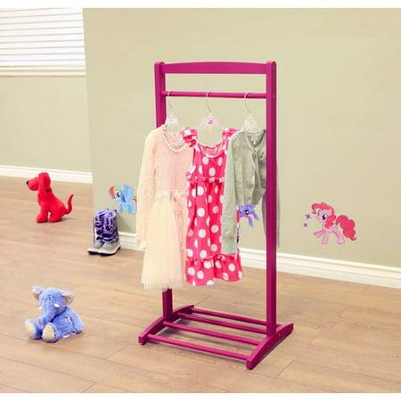 home craft kids 39 clothes rack purple. Black Bedroom Furniture Sets. Home Design Ideas