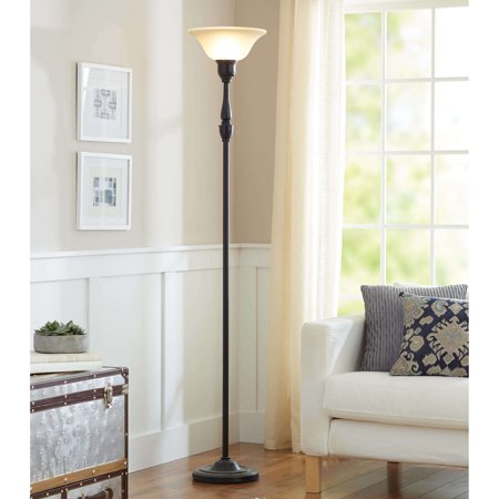Better Homes and Gardens Torchiere Floor Lamp, CFL Bulb Included -  Walmart.com