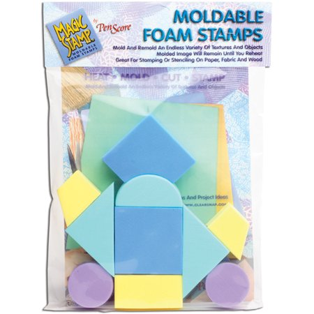 Magic Stamp Moldable Foam Stamps 10/Pkg-Geometric