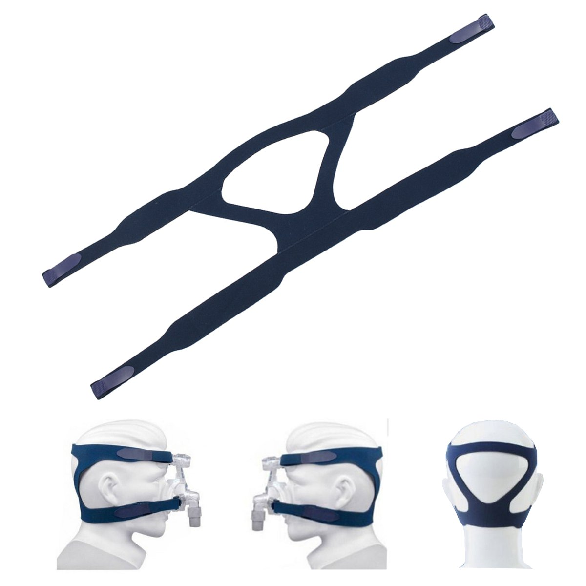 Universal Replacement Medical Ventilator Headgear Headband Without Mask Blue