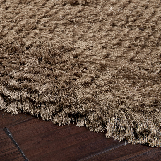 2' X 3' Dunn Taupe Brown Hand Woven Plush Pile Area Throw Rug