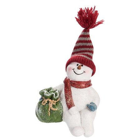 The Holiday Aisle Resin Sitting Snowman (Sitting Snowman Figurines)