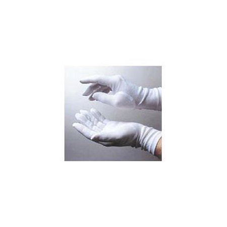 Child 8 Inch White Nylon Gloves 18998, One Size