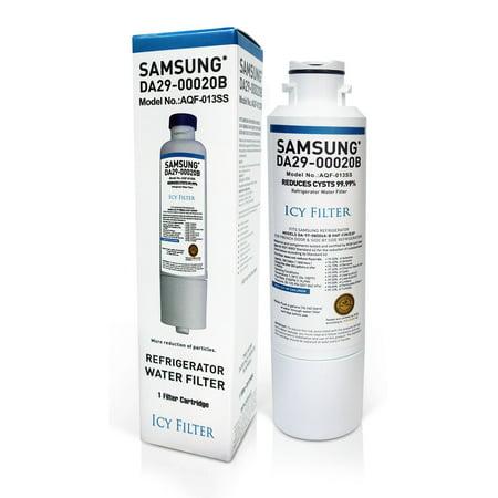 DA29-00020B Refrigerator Water Filter Replacement Compatible with Samsung DA2900020B Refrigerator Water Filter, DA29-00020A, HAF-CIN/EXP, RF263BEAESR, RF4287HARS, Kenmore 46-9101 (1 Pack) ()