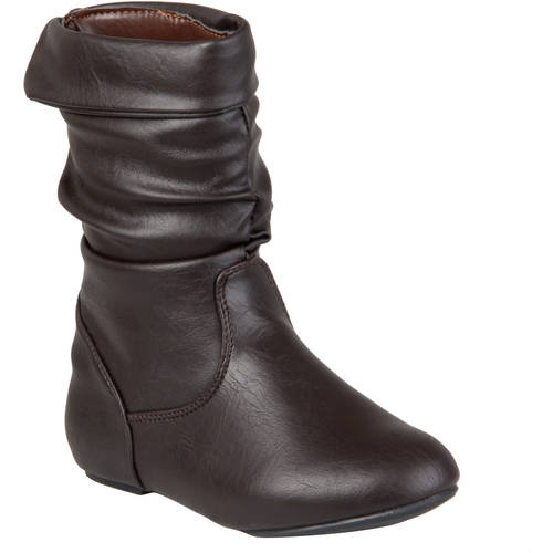 Brinley Co Kids Girl's Slouchy Accent Boots