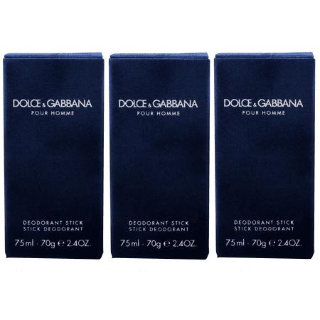 3 Pack - Dolce & Gabbana Pour Homme Deodorant Stick for Men 2.5