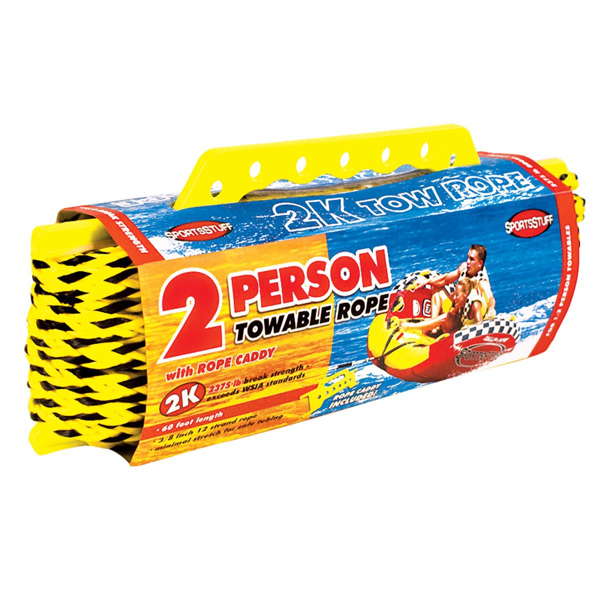 Airhead SPORTSSTUFF Towable Tube 2-Person 60-foot Tow Rope, 2375lbs | 57-1522