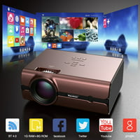 Excelvan Home Mini Projector with Synchronize Smartphone Screen, BT 4.0 1080P and 4000 Lux Portable Movie WiFi Projector Video Projector Home Theater Cinema