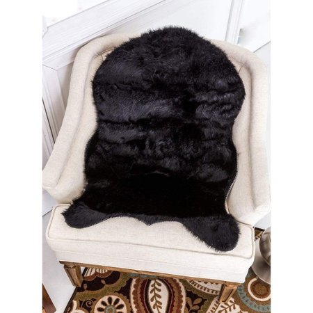 Sheepskin Rug Super Soft Use Everywhere Faux  Carpet Shaped (2' x 3') ()