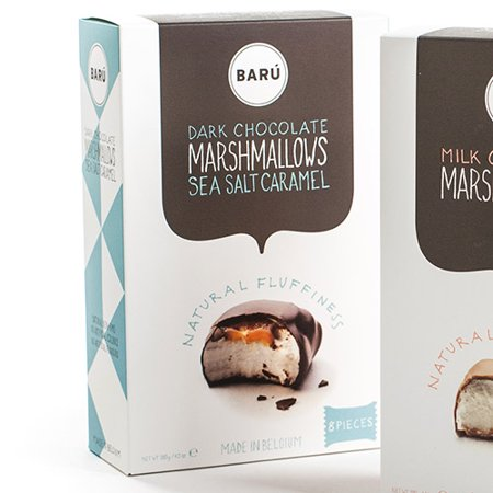 Baru Belgian Marshmallows - Dark Chocolate with Sea Salt and Caramel (4.23 ounce)