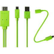 6FT MICRO USB HDMIMHL ADAPTER CABLE F/ SAMSUNG GALAXY S2 S3 GREEN