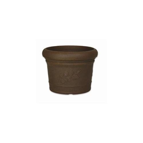 PP Plastic-Products 65-35-8 Danielle Round Resin Planter 65-35 14 inch x10 inch - Bronze