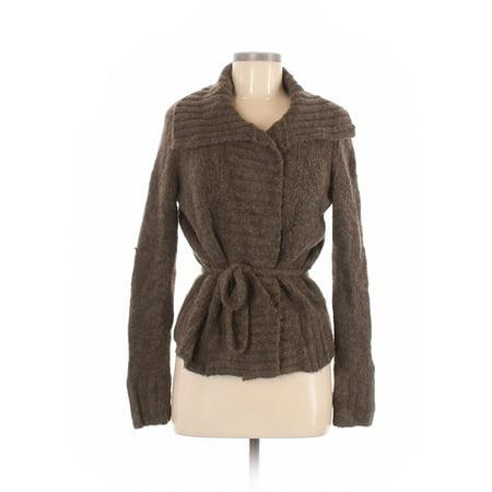 Pre-Owned Calvin Klein Women's Size M Petite Wool Cardigan Petite Wool Cardigan