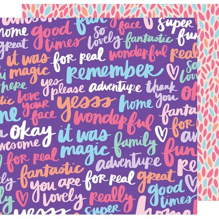 """Amy Tan Sunshine & Good Times Double-Sided Cardstock 12""""X12""""-Yesss Please - image 1 of 1"""