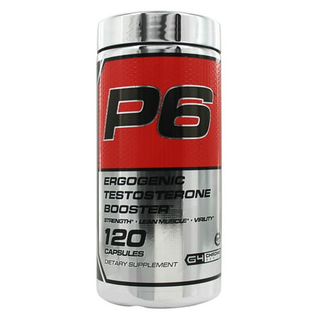 Cellucor P6 Ergogenic Testosterone Booster, Test Booster, 120 Ct